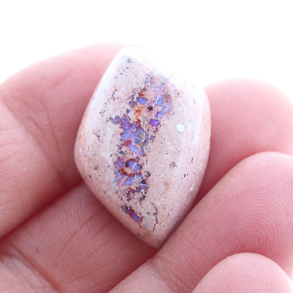 Mexican Opal Cabochon Lavender Fire Free Form