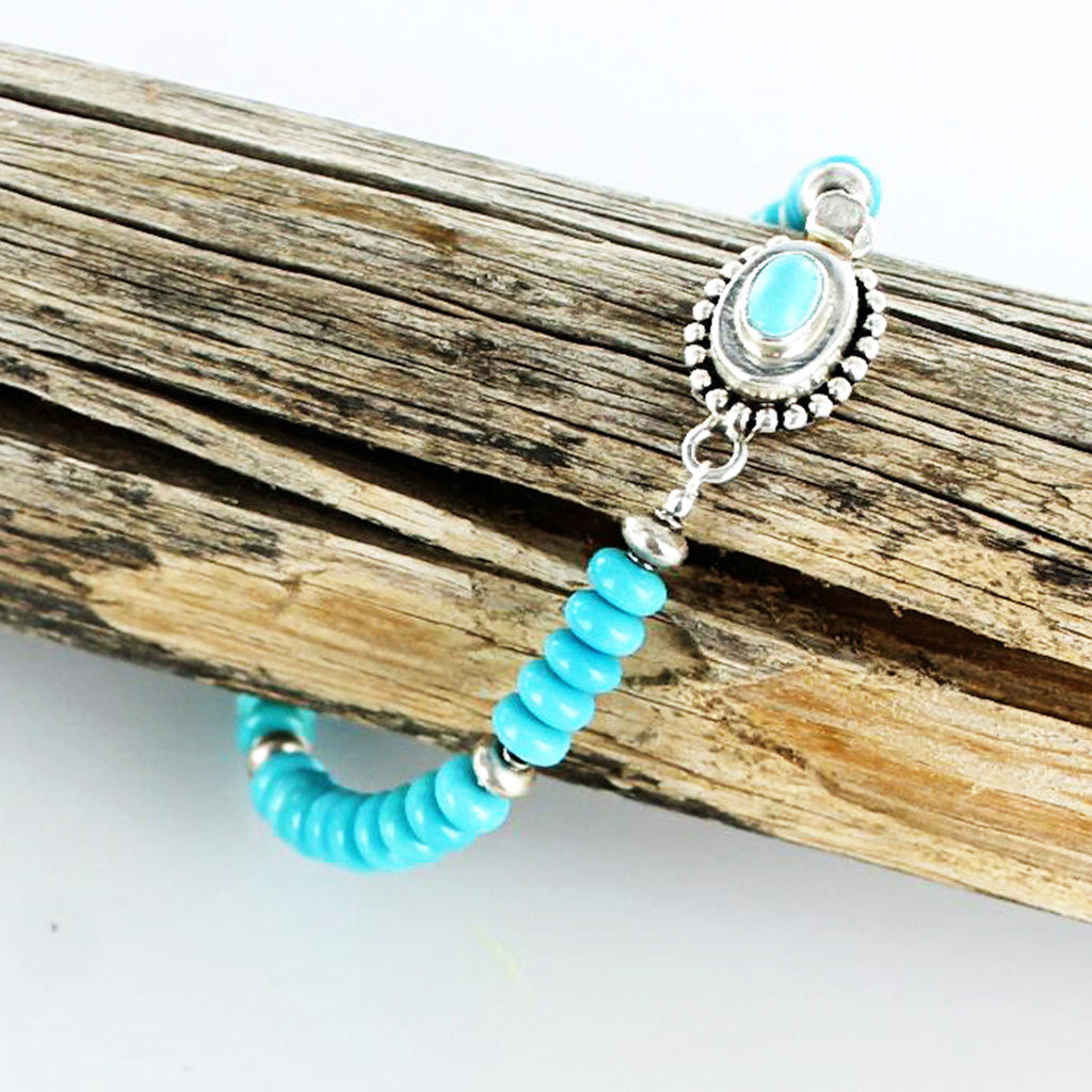 SLEEPING BEAUTY TURQUOISE Bracelet 6mm Sterling