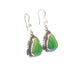 LIME GREEN ALUNITE Earrings Feathered Sterling Southwest