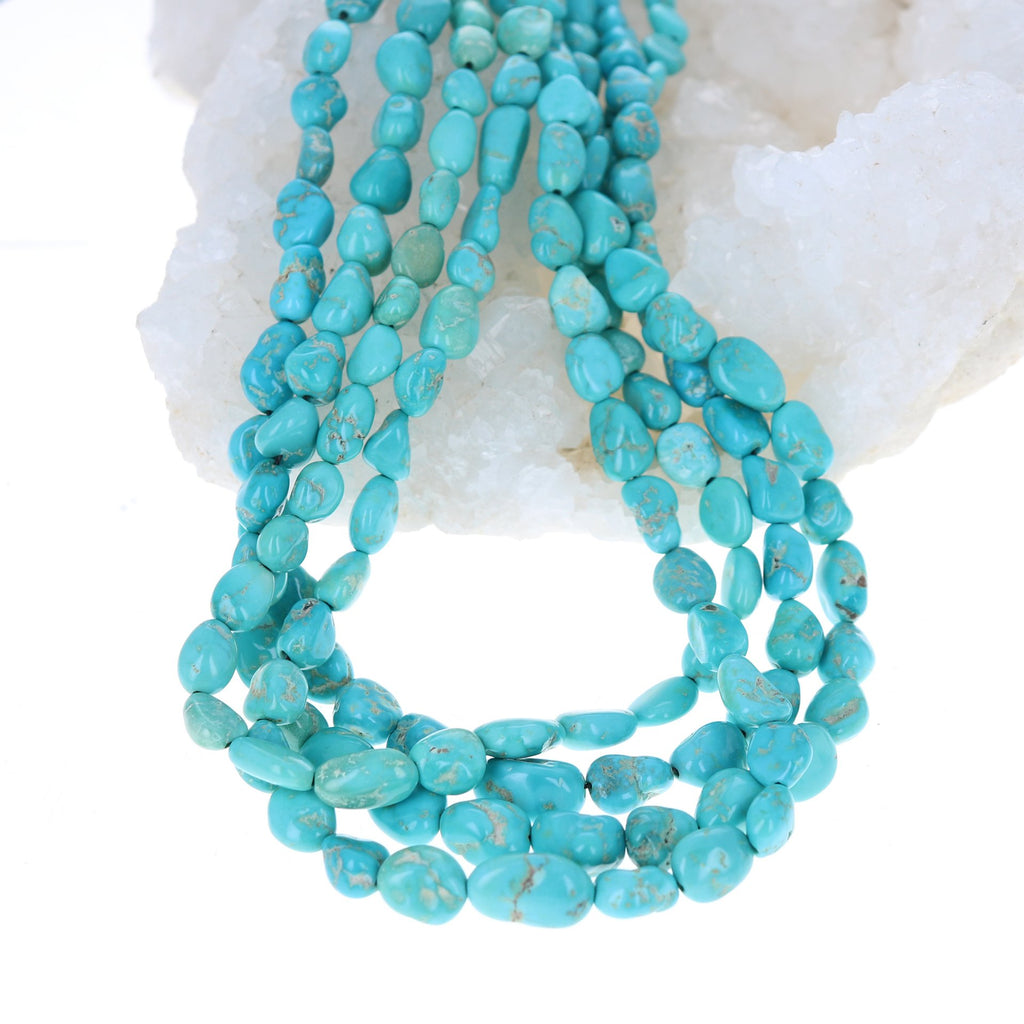 CARICO LAKE Turquoise Beads Oval Shaped Light Blues