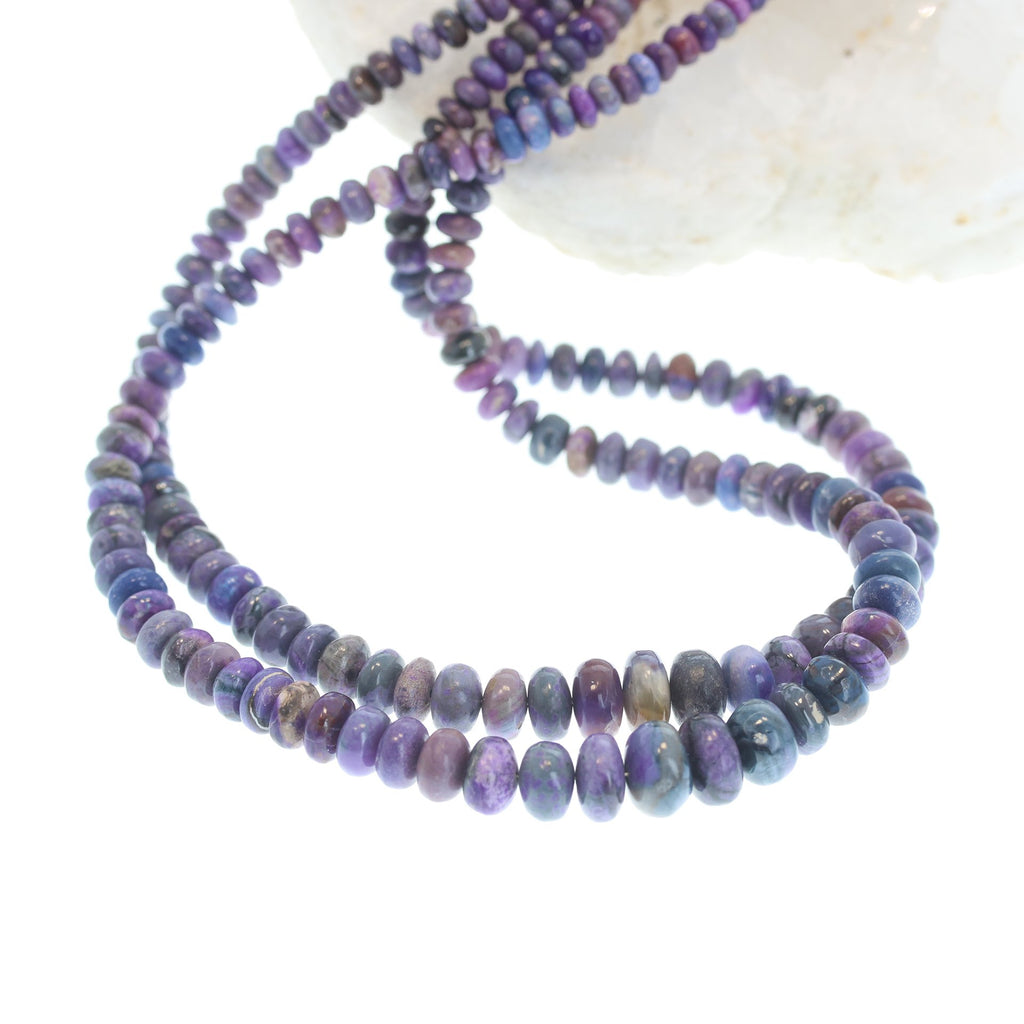 AAA SUGILITE BEADS RONDELLE 4-9.5mm 18""