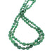 TSAVORITE GARNET BEADS OVAL GRADUATED 17""