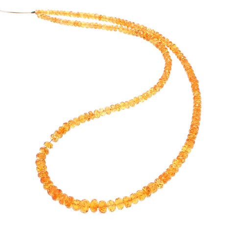 MANDARIN GARNET BEADS Faceted Rondelles 3.5-5.8mm