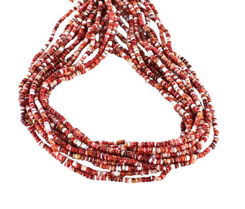 "Light RED SPINY Oyster Beads Rondelles 3.5mm 16"" - New World Gems"