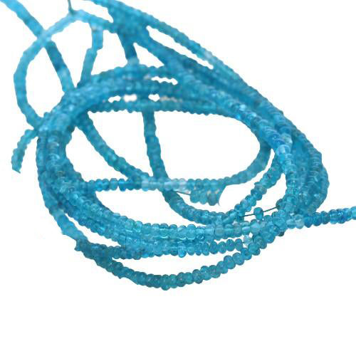 APATITE BEADS RONDELLE 3mm DEEP BLUE
