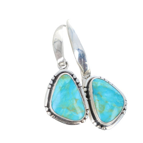 Clear Skies BLUE KINGMAN TURQUOISE Earrings Sterling