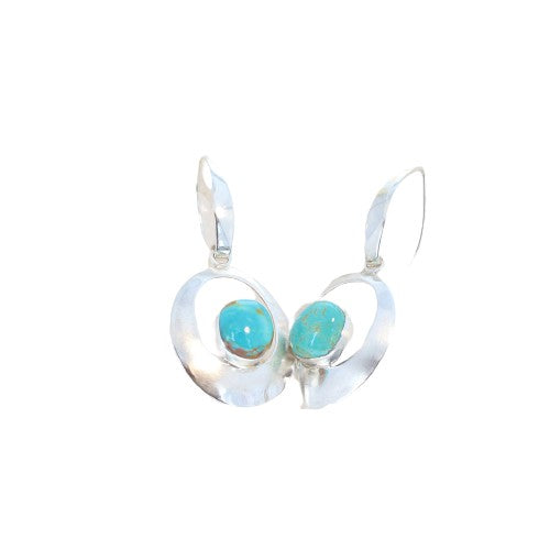 BLUE MOON TURQUOISE Earrings Elegant Hoops Southwest