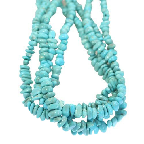 ARMENIAN TURQUOISE Nugget Beads 5-7mm 16""