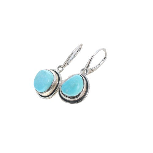DRY CREEK and Fox Turquoise Earrings Sterling Southwest