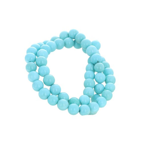 AAA CAMPITOS Mexican Turquoise Beads Blue 7.5mm Rounds