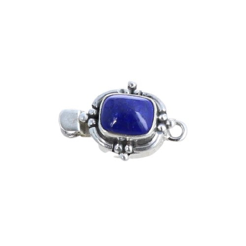 Lapis Clasp Cushion Shaped Sterling 11x9mm Cushion