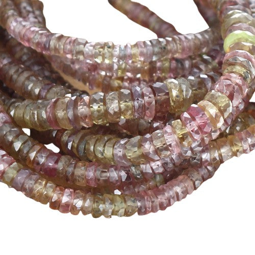 Color Change GARNET BEADS Faceted Discs 3.5-5.5mm