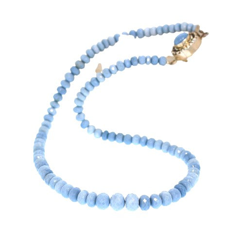 OWYHEE OPAL NECKLACE Beads Faceted AAA Grade 19""