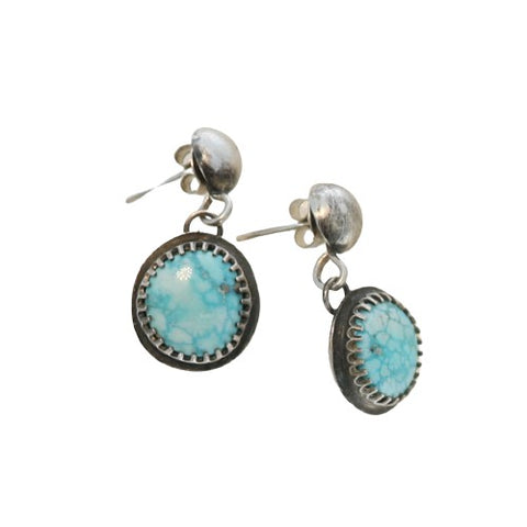 WHITE WATER {Mexican} TURQUOISE Earrings Decorative Setting