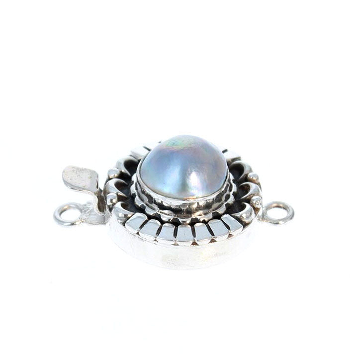 MABE PEARL CLASP Moon Petal Design 12.5mm