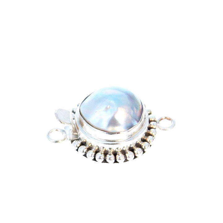 MABE PEARL CLASP Ball Design 12.5mm