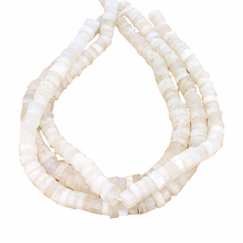 MOONSTONE BEADS FACETED Cylinders 10-11mm
