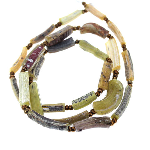 EXTREMELY RARE ANCIENT GLASS DIG BEADS YELLOW