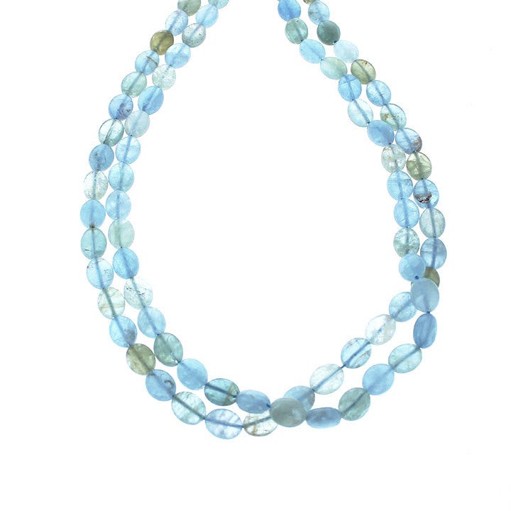 AQUAMARINE BEADS OVAL Multi Color 8x10mm 16""