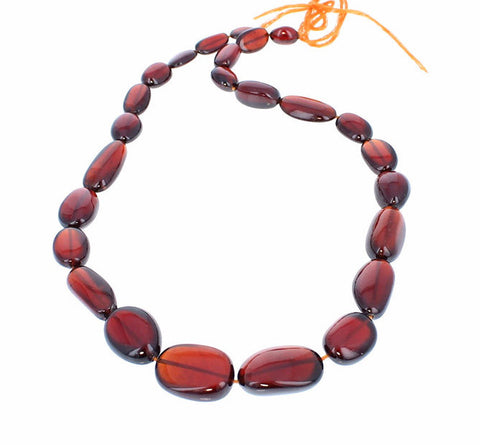 HESSONITE GARNET BEADS Large Ovals 10-23mm