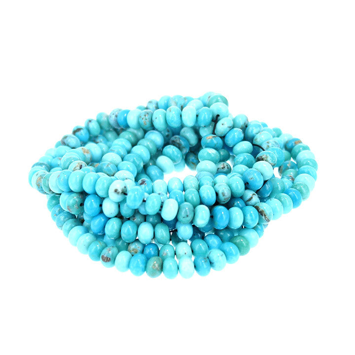 MEXICAN CAMPITOS TURQUOISE Beads Rondelles 6.3mm Multi Shade