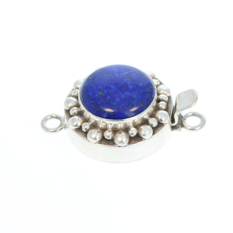 LAPIS CLASP Sterling Granulated Ball Design 14mm Round