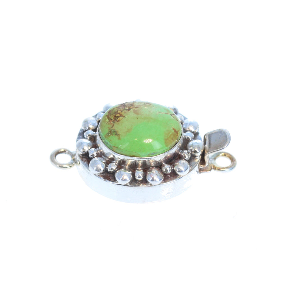 GASPEITE STERLING SILVER Clasp Australian Lime Green
