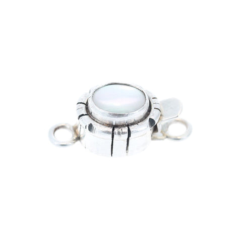 MOTHER OF PEARL Clasp Southwest Style Sterling 9x7mm