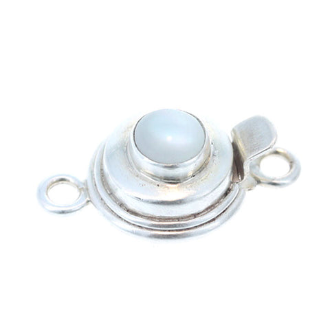 MOTHER OF PEARL Clasp 6mm Round Sterling
