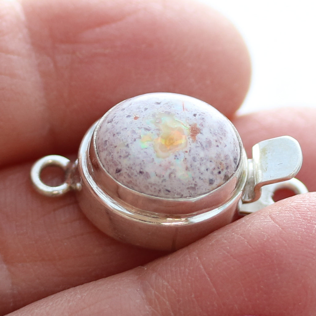 MEXICAN OPAL CLASP Multi Colors Sterling Choose Stone