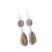 SONORA SUNRISE and Purple Spiny Oyster Earrings Sterling