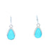 KINGMAN TURQUOISE Earrings Sky Blue Small Teardrops