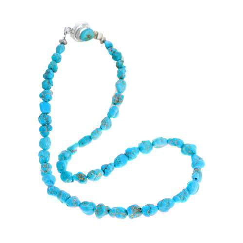 BLUE RIDGE ORVIL Jack Turquoise Beads Necklace Sterling Southwest