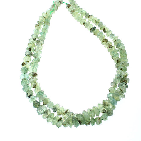 PREHNITE BEADS FACETED 10mm 16""