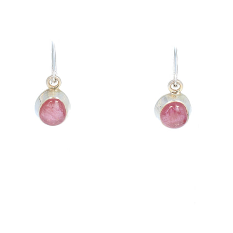 Pink SAPPHIRE EARRINGS Classic Sterling Leverback
