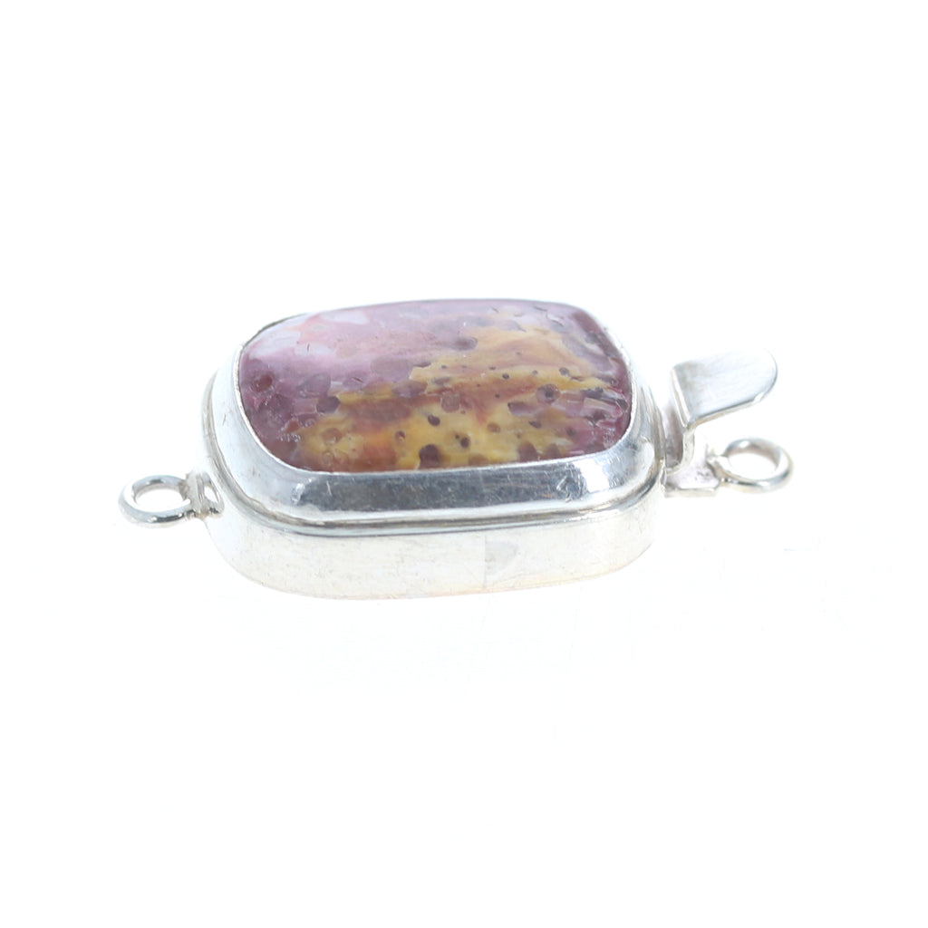 Lavender Spiny Oyster Clasp Large Cushion Sterling