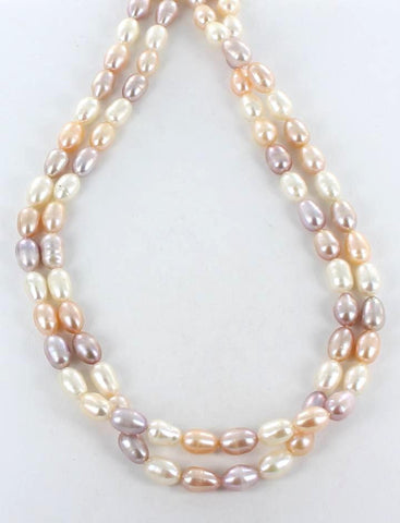 RICE TEARDROP PEARLS 11x7.5mm MULTI COLOR - New World Gems - 1