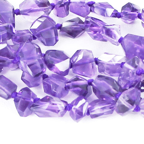 AMETHYST FACETED FREE FORM BEADS 7x10mm - New World Gems