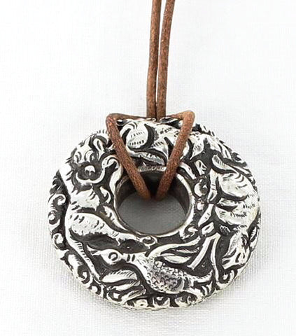 TIBETAN STERLING DECORATIVE ANIMAL PENDANT - New World Gems