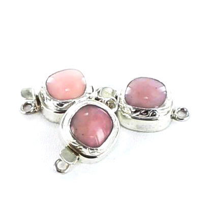 Peruvian Pink Opal Sterling Clasp Semi Cushion Shape - New World Gems