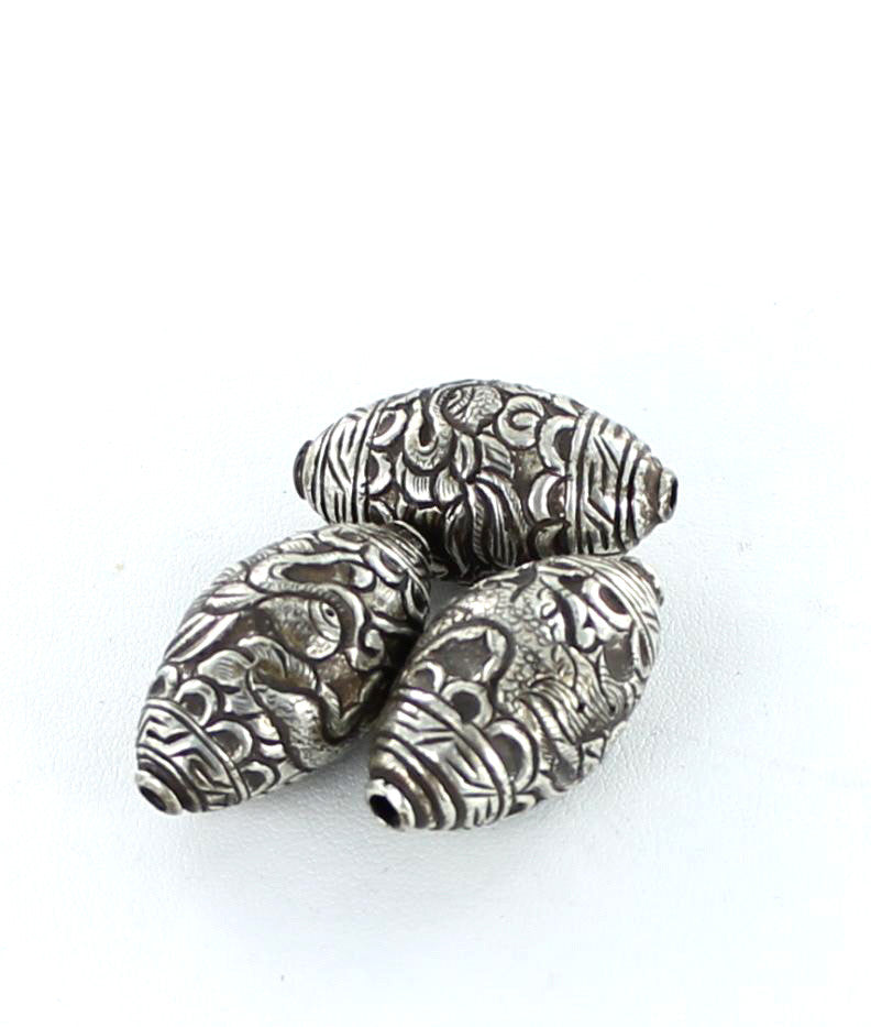 TIBETAN STERLING SILVER DRAGON BEADS LARGE 1 PC - New World Gems