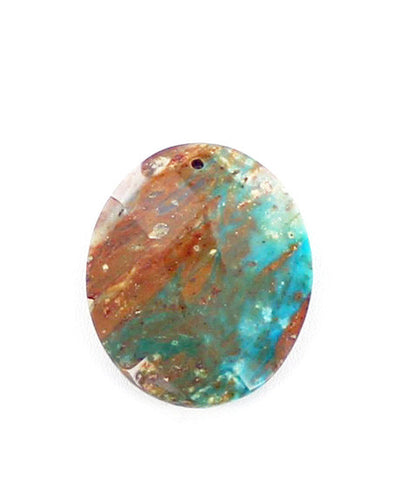 PERUVIAN OPAL FACETED OVAL BEAD 50x40mm - New World Gems