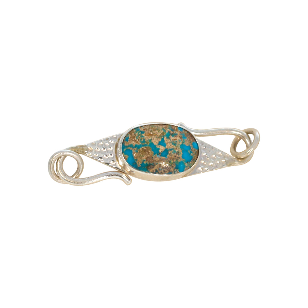 Persian Turquoise Sterling Clasp Hook Style Choose Stone