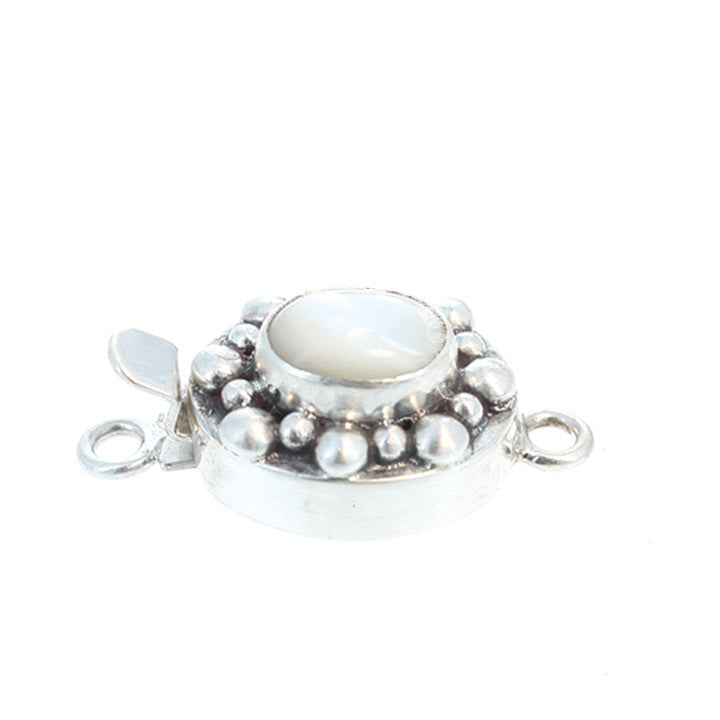 Mother of Pearl Clasp Oval Ball Design 9x11mm