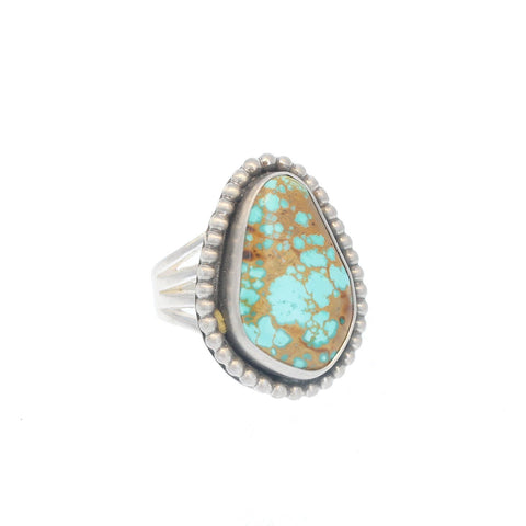 LARGE TURQUOISE Ring #8 Mine Freeform