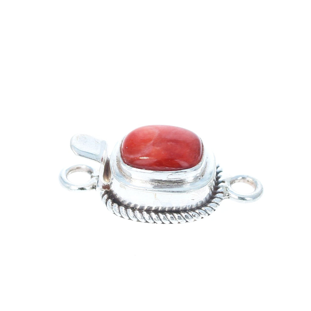Spiny Oyster Clasp Cushion Sterling Red or Orange