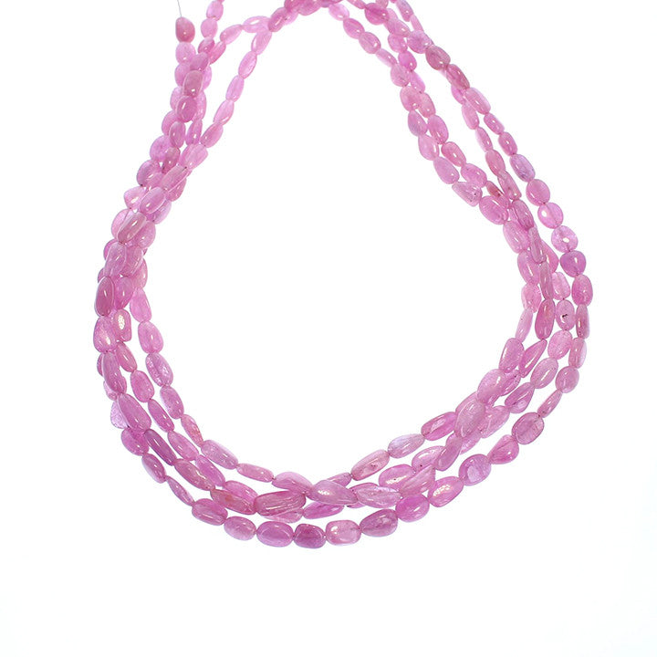 PINK SAPPHIRE BEADS Potato Shape 7.5x5mm