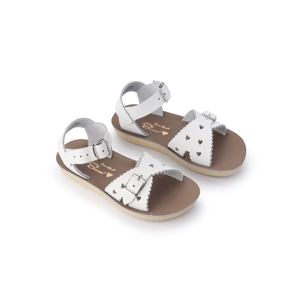 Salt Water Sandals Sun-San Sweetheart White