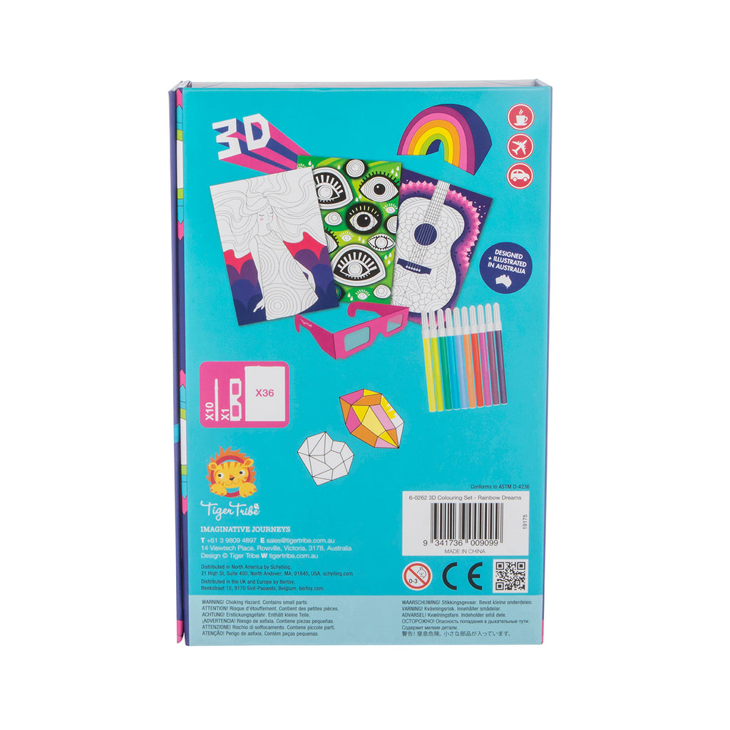 Tiger Tribe 3D Colouring Set - Rainbow Dreams
