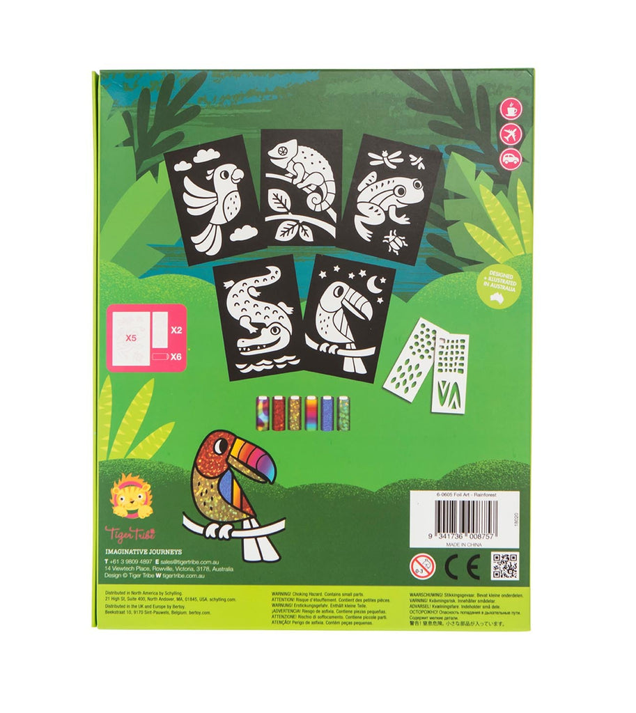 Tiger Tribe Foil Art - Rainforest